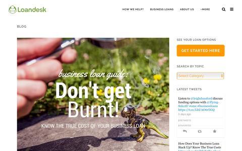 Screenshot of Blog loandesk.com.au - Business loans, podcasts, advice & news | Loandesk - captured Dec. 4, 2015