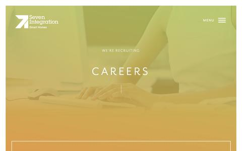 Screenshot of Jobs Page sevenintegration.co.uk - Jobs & Vacancies In Home Automation System Installation - captured Oct. 9, 2017