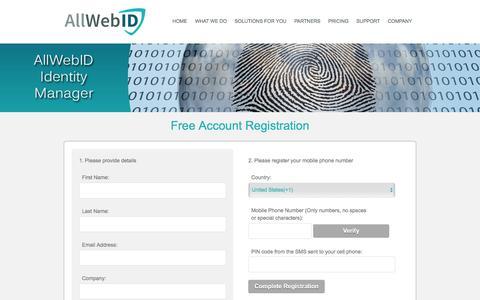 Screenshot of Trial Page allwebid.com - AllWebID - captured Dec. 24, 2015
