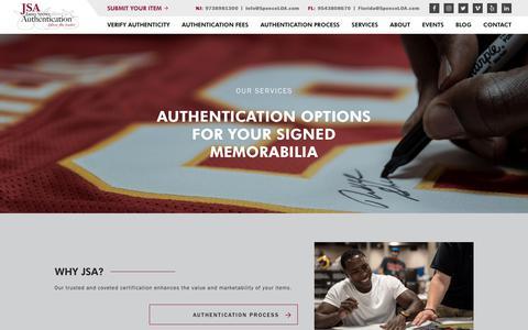 Screenshot of Services Page spenceloa.com - JSA - captured Oct. 13, 2018