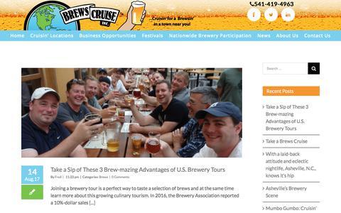 Screenshot of Press Page brewscruise.com - Brewery Tours News | Brews Cruise - captured Oct. 11, 2017