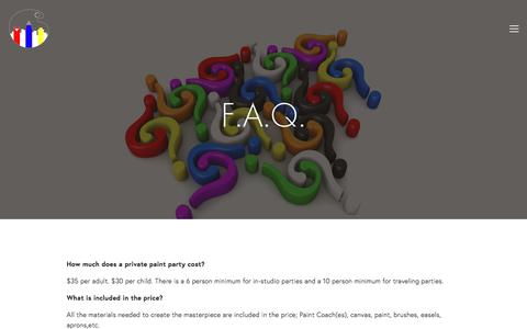 Screenshot of FAQ Page cityartroom.com - FAQ — City Art Room - captured July 8, 2018