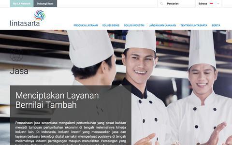 Screenshot of Services Page lintasarta.net - Menciptakan Layanan Bernilai Tambah - captured July 3, 2016