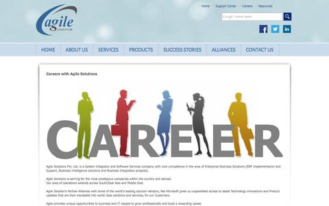 Screenshot of Jobs Page agile.com.np - Careers at Agile Solutions : Agile Solutions Pvt. Ltd. - captured Oct. 4, 2014