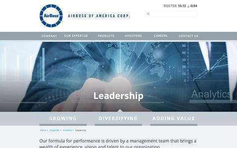 Screenshot of Team Page airbossofamerica.com - AirBoss   Corporate Leadership - captured Nov. 14, 2018