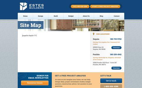 Screenshot of Site Map Page estesbuilders.com - Site Map - Estes Builders - captured Sept. 29, 2018