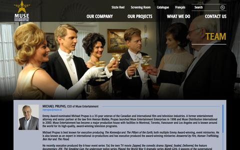 Screenshot of Team Page muse.ca - Muse Entertainment - Team - captured Oct. 7, 2014