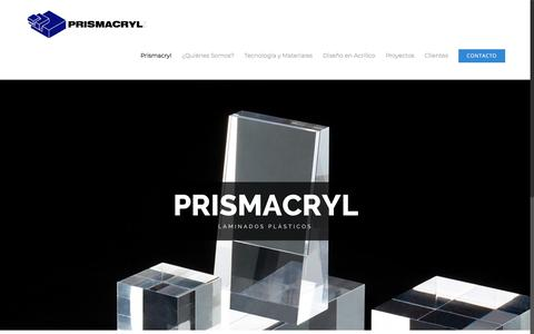 Screenshot of Home Page prismacryl.com - Prismacryl - Prismacryl - captured July 21, 2018