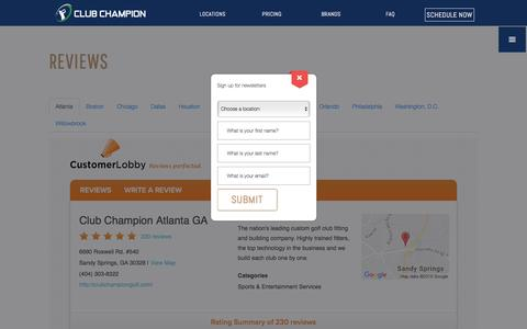 Screenshot of Testimonials Page clubchampiongolf.com - Testimonials - Club Champion Golf - captured Nov. 7, 2016