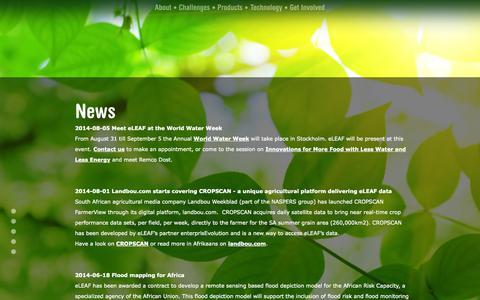Screenshot of Press Page eleaf.com - eleaf - feed the world - captured Sept. 30, 2014