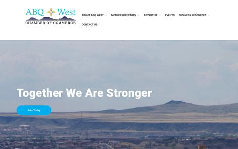 Screenshot of About Page abqwest.org - About ABQ West Chamber of Commerce – ABQ West Chamber of Commerce - captured Oct. 2, 2018