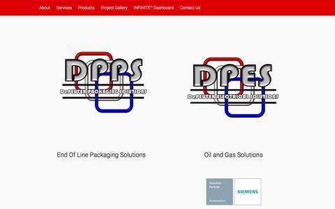 Screenshot of Home Page depeuter-es.com - | DePeuter Electrical Solutions, LLC - captured Feb. 8, 2016