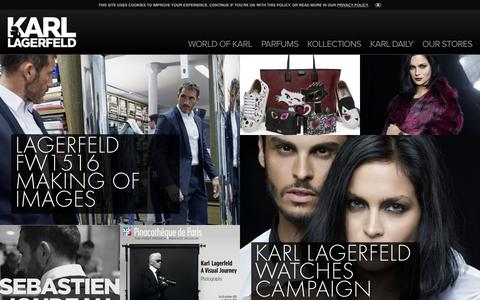 Screenshot of Home Page karl.com - Karl Lagerfeld - captured Oct. 17, 2015
