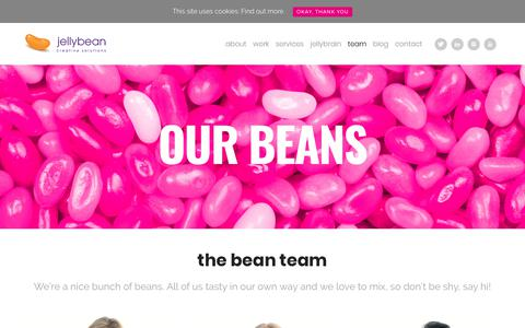 Screenshot of Team Page jellybeancreative.co.uk - Food Marketing Agency - The Team - Jellybean Creative Solutions - captured Oct. 16, 2017