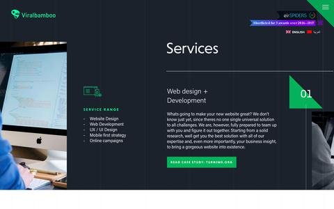 Screenshot of Services Page viralbamboo.com - Service Page // Viralbamboo - captured Sept. 21, 2018