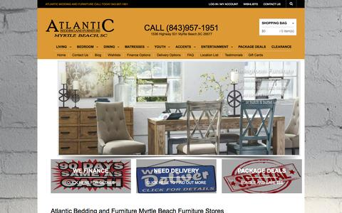 Screenshot of Home Page abfmyrtlebeach.com - Atlantic Bedding and Furniture Myrtle Beach Furniture Stores - captured Sept. 24, 2014