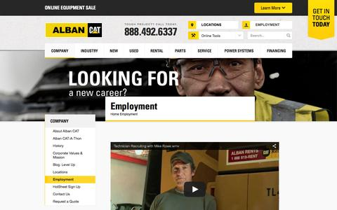 Screenshot of Jobs Page albancat.com - Employment - Mid-Atlantic | Alban CAT - captured Dec. 24, 2015