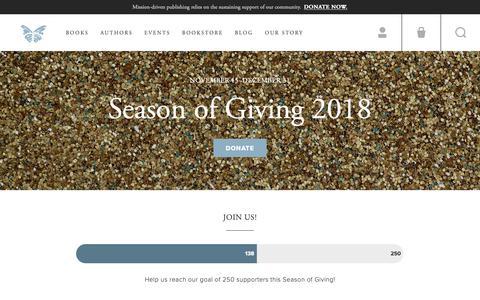 Screenshot of Support Page milkweed.org - Support | Milkweed Editions - captured Dec. 20, 2018