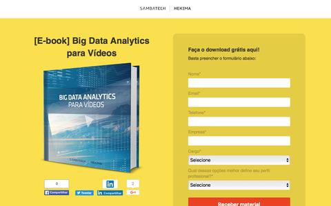 Screenshot of Landing Page sambatech.com - [E-book] Big Data Analytics para Vídeos - captured Aug. 19, 2016