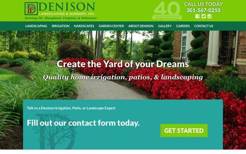 Screenshot of Home Page denisonlandscaping.com - Denison Landscaping - Residential Landscaping, Irrigation - captured Sept. 12, 2015