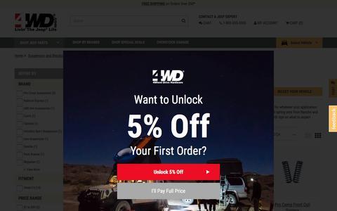 Jeep Coil Spring Set | {OnSale} Coil Spring Set for Wrangler at 4WD.com
