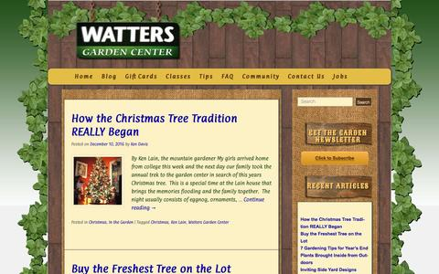 Screenshot of Blog wattersgardencenter.com - Blog - Watters Garden Center - captured Dec. 13, 2016