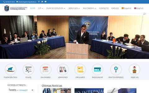 Screenshot of Home Page colegiotorrequebrada.com - Centro Bilingüe - Infantil a Bachillerato Internacional - Colegio Internacional Torrequebrada - captured Sept. 28, 2018