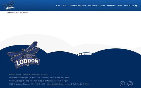 Screenshot of Terms Page loddonbrewery.com - Terms & Conditions • Loddon Brewery - captured Nov. 11, 2018