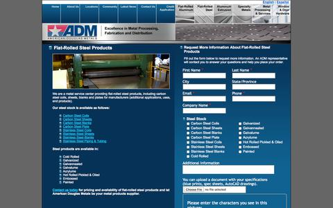 Screenshot of Landing Page americandouglasmetals.com - Flat Rolled Steel | American Douglas Metals - captured Oct. 27, 2014