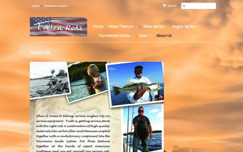 Screenshot of About Page tallenrods.com - About Us – t-allen-rods - captured Nov. 5, 2014