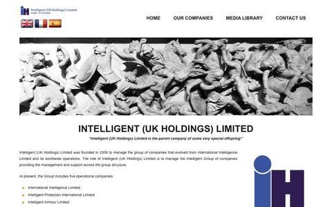 Screenshot of Home Page intelligent-holdings.co.uk - Intelligent (UK Holdings) Limited group of companies - captured Nov. 26, 2016