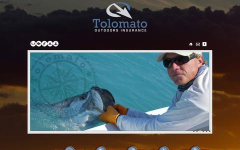 Screenshot of Home Page About Page tolomatooutdoors.com - Insurance | Tolomato Outdoors Insurance | - captured Oct. 9, 2014