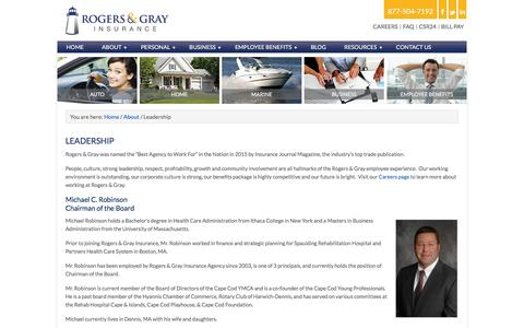Screenshot of Team Page rogersgray.com - Rogers & Gray Principals | Massachusetts Insurance Agency - captured Dec. 1, 2016