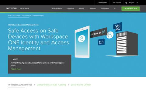 Identity Management | Single Sign On | SSO |  AirWatch