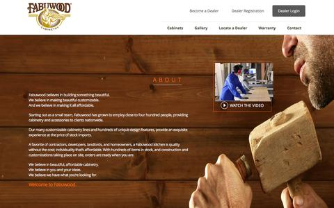 Screenshot of About Page fabuwood.com - Fabuwood Cabinetry - captured Feb. 9, 2016