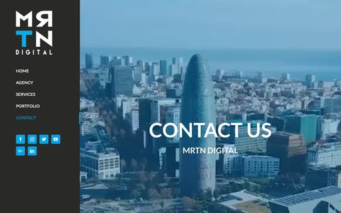 Screenshot of Contact Page mrtndigital.com - Contact Us | MRTN Digital: Creative Digital Marketing Agency - captured Dec. 5, 2018