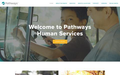 Screenshot of Home Page pathways.com - Pathways - captured Oct. 24, 2018
