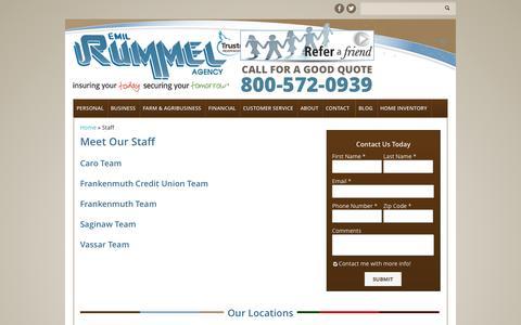 Screenshot of Team Page rummelinsurance.com - Staff | Emil Rummel Insurance Agency - captured Oct. 2, 2014