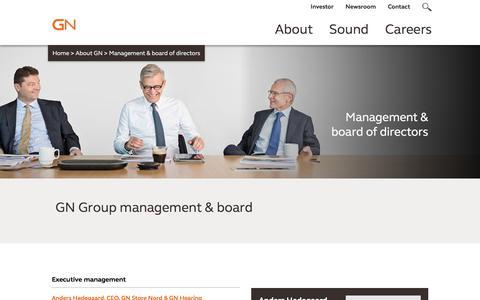 Screenshot of Team Page gn.com - Management - captured Sept. 26, 2018