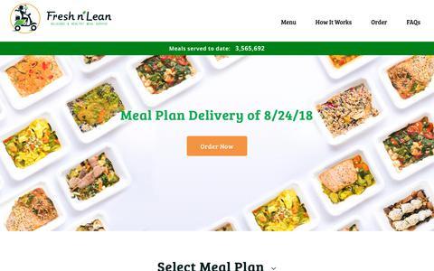 Screenshot of Menu Page freshnlean.com - Weekly Menu   Meal Delivery Plans   Fresh n' Lean - captured Aug. 28, 2018
