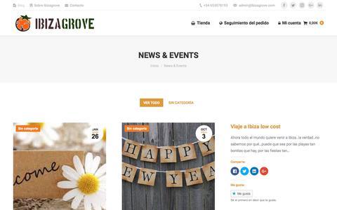 Screenshot of Blog ibizagrove.com - News & Events - Ibizagrove - captured Sept. 11, 2018
