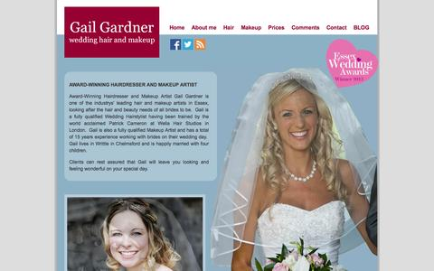 Screenshot of About Page gailgardner.co.uk - About me | Wedding Hair and Makeup in Essex by Gail Gardner - captured Oct. 1, 2014
