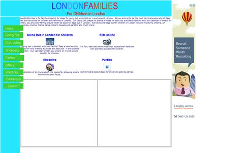 Screenshot of Home Page londonfamilies.co.uk - LondonFamilies - Activities & days out for London's families - captured June 19, 2015