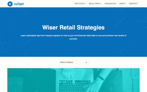 Screenshot of Blog wiser.com - Wiser Retail Strategies | The Official Wiser Blog - captured July 19, 2019