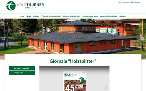 """Screenshot of Press Page thu.at - www.thu.at - Giornale """"Holzsplitter"""" - captured Nov. 9, 2018"""