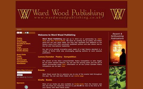 Screenshot of Home Page wardwoodpublishing.co.uk - Ward Wood Publishing - Home Page - captured Oct. 7, 2014