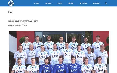 Screenshot of Team Page tvgrosswallstadt.de - Team – TV Großwallstadt - captured May 24, 2018