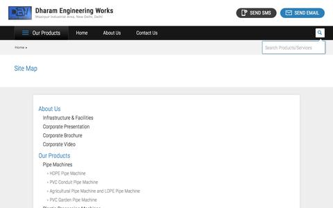 Screenshot of Site Map Page dharamenggwork.com - Sitemap - Dharam Engineering Works - captured Oct. 12, 2017