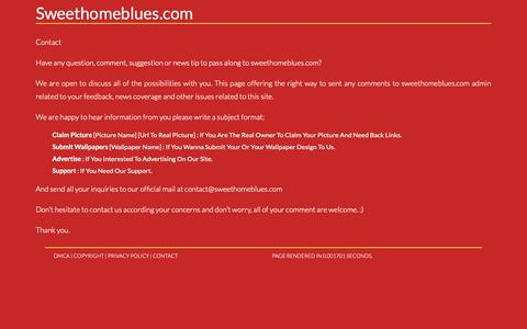 Screenshot of Contact Page sweethomeblues.com - Contact. Page on Contactsweethomeblues.com - captured Oct. 27, 2018