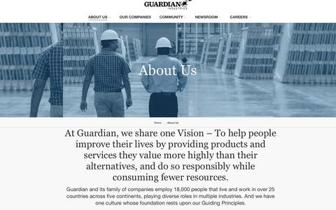 Screenshot of About Page guardian.com - Introduction - captured Jan. 18, 2019